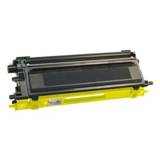 Compatible Brother TN115Y toner cartridge, 4000 pages, high capacity yield, yellow