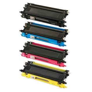 Compatible Brother TN210BK, TN210C, TN210M, TN210Y toner cartridges (pack of 4)