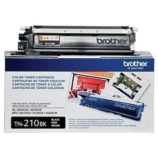 Brother TN210BK Genuine Original (OEM) laser toner cartridge, 2200 pages, black