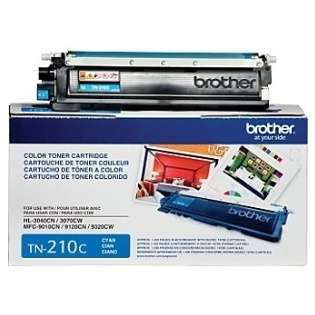 Brother TN210C Genuine Original (OEM) laser toner cartridge, 1400 pages, cyan