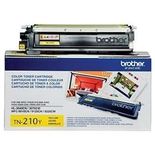 Brother TN210Y Genuine Original (OEM) toner cartridge, 1400 pages, yellow