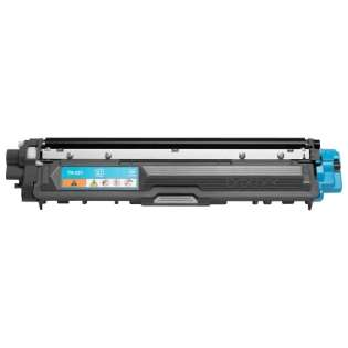 Brother TN221C Genuine Original (OEM) laser toner cartridge, 1400 pages, cyan