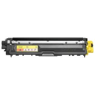 Brother TN221Y Genuine Original (OEM) toner cartridge, 1400 pages, yellow
