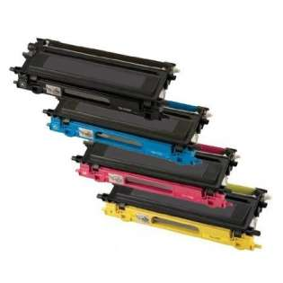 Compatible Brother TN315BK, TN315C, TN315M, TN315Y toner cartridges, high capacity yield (pack of 4)
