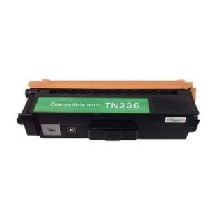 Compatible Brother TN336BK toner cartridge, 4000 pages, high capacity yield, black
