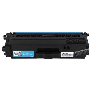 Brother TN336C Genuine Original (OEM) laser toner cartridge, 3500 pages, high capacity yield, cyan