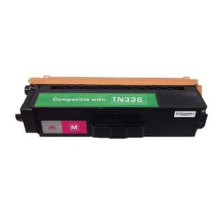 Compatible Brother TN336M toner cartridge, 3500 pages, high capacity yield, magenta