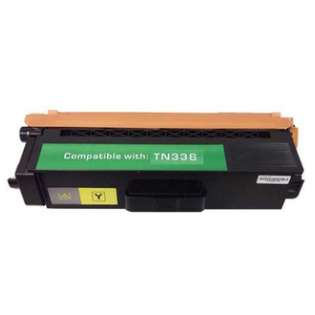 Compatible Brother TN336Y toner cartridge, 3500 pages, high capacity yield, yellow