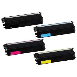 Compatible Brother TN433BK / TN433C / TN433M / TN433Y toner cartridges - (pack of 4)