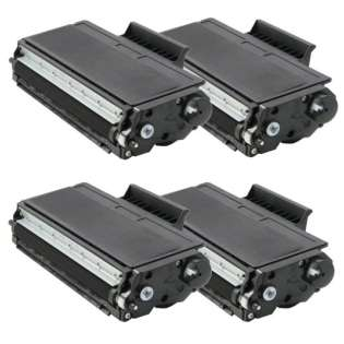 Compatible Brother TN580 toner cartridges, high capacity yield (pack of 4)
