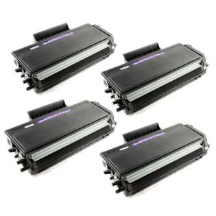 Compatible Brother TN650 toner cartridges, high capacity yield (pack of 4)