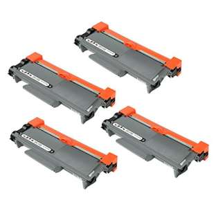 Compatible Brother TN660 toner cartridges, high capacity yield (pack of 4)