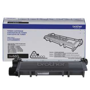 Original Brother TN660 toner cartridge - high capacity yield black