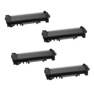 Compatible Brother TN730 toner cartridges - black - Pack of 4