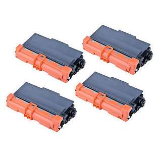 Compatible Brother TN750 toner cartridges, high capacity yield (pack of 4)