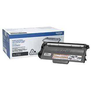 Brother TN750 Genuine Original (OEM) laser toner cartridge, 8000 pages, high capacity yield, black