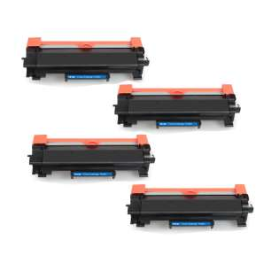 499inks Brand Compatible for Brother TN760 toner cartridges - WITH CHIP - high capacity black - 4-pack