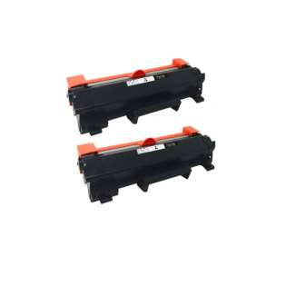 Compatible Brother TN760 toner cartridges - WITH CHIP - jumbo capacity black - 2-pack