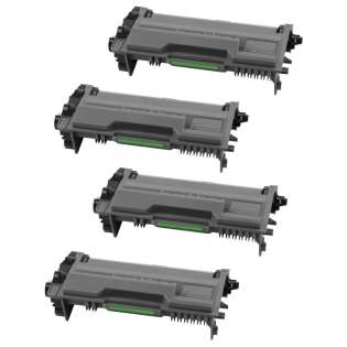 Replacement for Brother TN880 cartridges - black - Pack of 4 HIGH CAPACITY