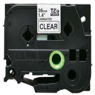 Compatible label tape for Brother TZe-161 - black on clear