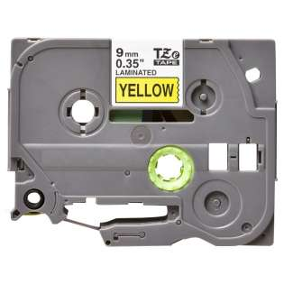 Compatible label tape for Brother TZe-621 - black on yellow