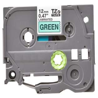 Compatible label tape for Brother TZe-731 - black on green