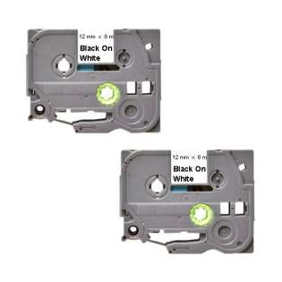 Compatible label tape for Brother TZe-231 - black on white - 2-pack