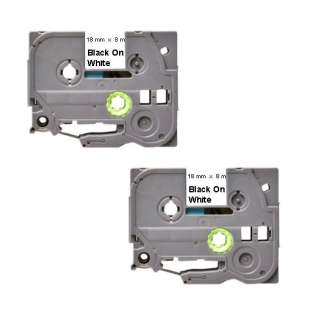 Compatible label tape for Brother TZe-241 - black on white - 2-pack