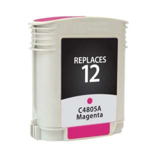 Remanufactured HP C4805A (12) inkjet cartridge - magenta