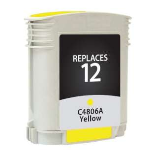 Remanufactured HP C4806A (12) inkjet cartridge - yellow