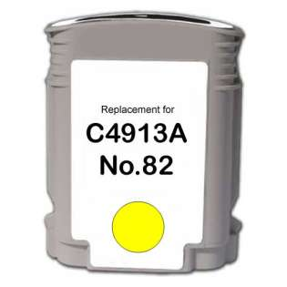 Remanufactured HP C4913A (82) inkjet cartridge - yellow
