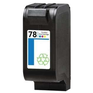 Remanufactured HP 78, C6578DN ink cartridge, tri-color