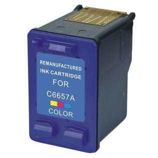 Remanufactured HP 57, C6657AN ink cartridge, tri-color