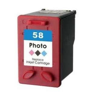 Remanufactured HP 58, C6658AN ink cartridge, photo