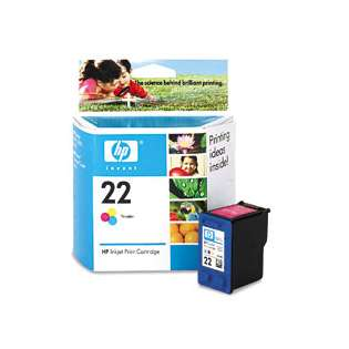 HP 22, C9352AN Genuine Original (OEM) ink cartridge, tri-color