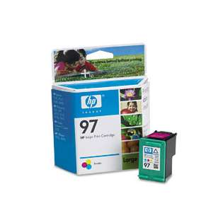 HP 97, C9363WN Genuine Original (OEM) ink cartridge, tri-color