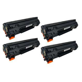 Compatible Canon 126 toner cartridges - black - (pack of 4)