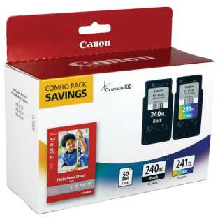 Canon PG-240XL, CL-241XL, 50 Photo Paper ink pack, 5206B005