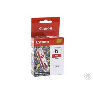 Canon BCI-6R Genuine Original (OEM) ink cartridge, red