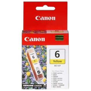 Canon BCI-6Y Genuine Original (OEM) ink cartridge, yellow