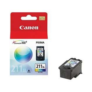 Canon CL-211XL Genuine Original (OEM) ink cartridge, high capacity yield, color