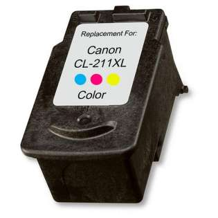 Remanufactured Canon CL-211XL ink cartridge, high capacity yield, color