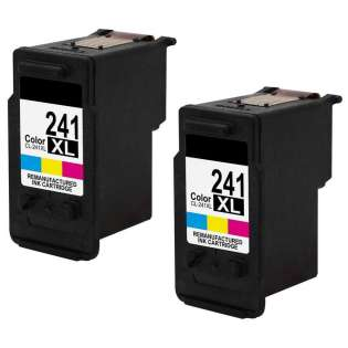 Remanufactured inkjet cartridges Multipack for Canon CL-241XL - 2 pack