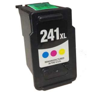 Remanufactured Canon CL-241XL ink cartridge, high capacity yield, color, 400 pages