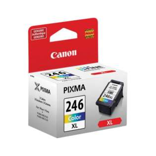 Canon CL-246XL Genuine Original (OEM) ink cartridge, high capacity yield, color, 300 pages