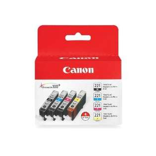 Canon CLI-221 Genuine Original (OEM) ink cartridges (pack of 4)