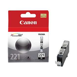 Canon CLI-221BK Genuine Original (OEM) ink cartridge, black