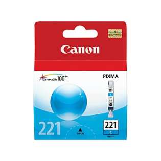 Canon CLI-221C Genuine Original (OEM) ink cartridge, cyan