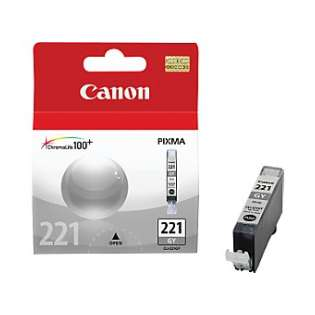 Canon CLI-221GY Genuine Original (OEM) ink cartridge, gray