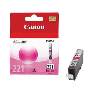 Canon CLI-221M Genuine Original (OEM) ink cartridge, magenta